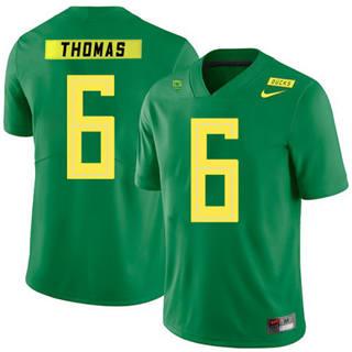 Men's Oregon Ducks #6 De'Anthony Thomas NCAA Football Jersey Apple Green