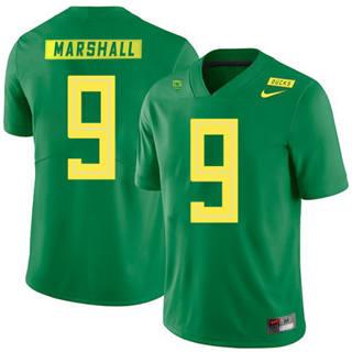 Men's Oregon Ducks #9 Byron Marshall NCAA Football Jersey Apple Green