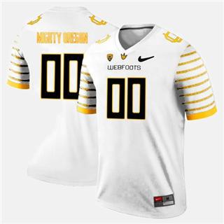 Men's Oregon Ducks Custom Name Number White Sewn NCAA Football Jersey