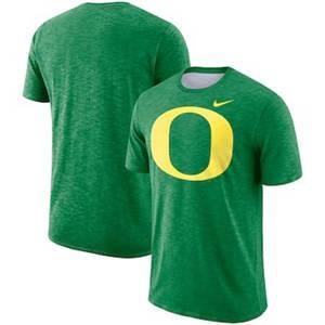 Men's Oregon Ducks  Sideline Performance Cotton Slub T-Shirt - Kelly Green