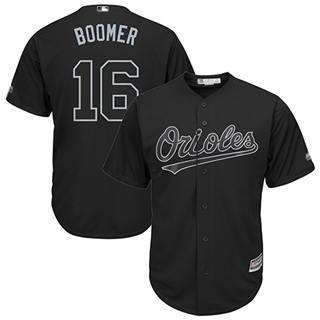 Men's Orioles #16 Trey Mancini Black Boomer Players Weekend Cool Base Stitched Baseball Jersey