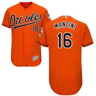 Men's Orioles #16 Trey Mancini Orange Flexbase  Collection Stitched Baseball Jersey