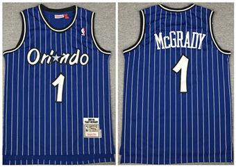 Men's Orlando Magic #1 Tracy McGrady 2003-2004 Blue Stitched Basketball Jersey