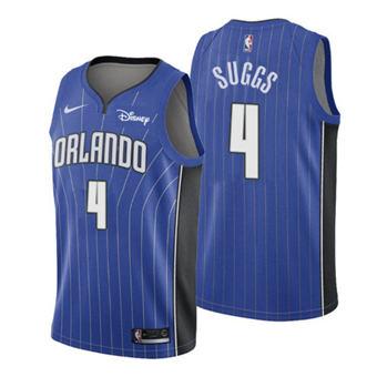 Men's Orlando Magic #4 Jalen Suggs 2021 Royal Icon Edition Swingman Basketball Jersey