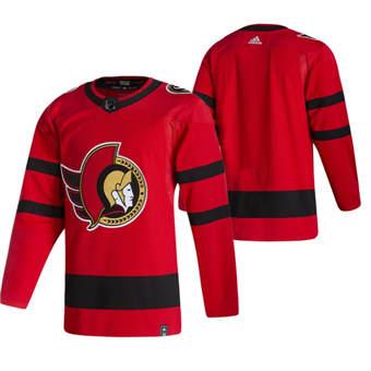 Men's Ottawa Senators Blank Red 2020-21 Reverse Retro Alternate Hockey Jersey