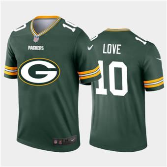 Men's Packers #10 Jordan Love Green Football Team Big Logo Fashion Vapor Limited Jersey