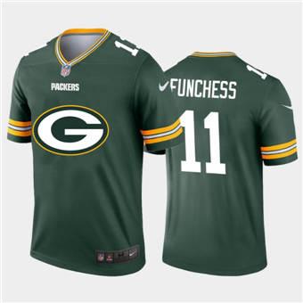 Men's Packers #11 Devin Funchess Green Football Team Big Logo Fashion Vapor Limited Jersey