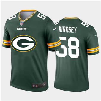 Men's Packers #58 Christian Kirksey Green Football Team Big Logo Fashion Vapor Limited Jersey