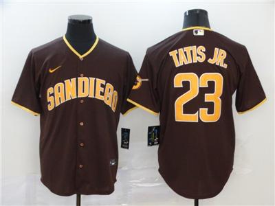 Men's Padres #23 Fernando Tatis Jr. Brown 2020 Baseball Cool Base Jersey