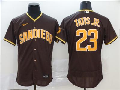 Men's Padres #23 Fernando Tatis Jr. Brown 2020 Baseball Flexbase Jersey