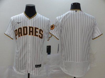 Men's Padres Blank White Strip 2020 Baseball Flexbase Jersey