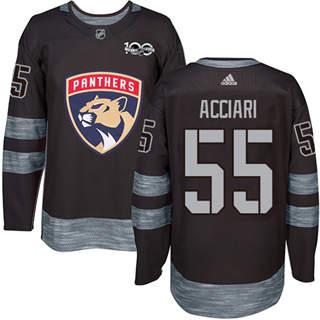 Men's Panthers #55 Noel Acciari Black 1917-2017 100th Anniversary Stitched Hockey Jersey