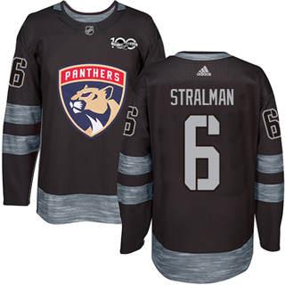 Men's Panthers #6 Anton Stralman Black 1917-2017 100th Anniversary Stitched Hockey Jersey