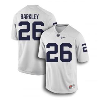 Men's Penn State Nittany Lions #26 Saquon Barkley Jersey White NCAA