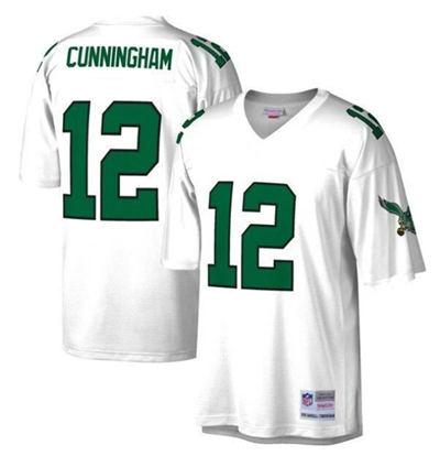 Men's Philadelphia Eagles #12 Randall Cunningham White Stitched Football Jersey