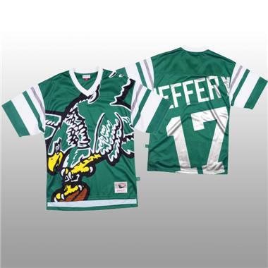 Men's Philadelphia Eagles #17 Alshon Jeffery Green Mitchell & Nell Big Face Fashion Limited Football Jersey