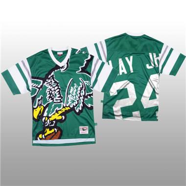 Men's Philadelphia Eagles #24 Darius Slay Jr Green Mitchell & Nell Big Face Fashion Limited Football Jersey