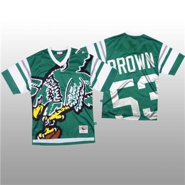 Men's Philadelphia Eagles #53 Jatavis Brown Green Mitchell & Nell Big Face Fashion Limited Football Jersey