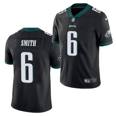 Men's Philadelphia Eagles #6 DeVonta Smith 2021 Football Draft Black Vapor Untouchable Limited Stitched Jersey