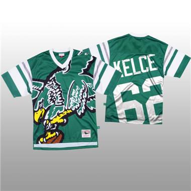 Men's Philadelphia Eagles #62 Jason Kelce Green Mitchell & Nell Big Face Fashion Limited Football Jersey