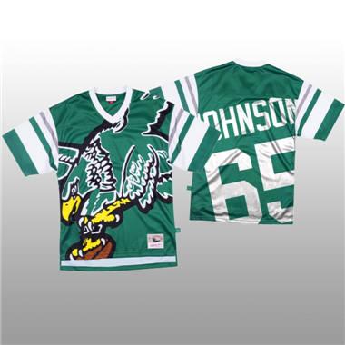 Men's Philadelphia Eagles #65 Lane Johnson Green Mitchell & Nell Big Face Fashion Limited Football Jersey