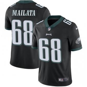 Men's Philadelphia Eagles #68 Jordan Mailata Black Vapor Untouchable Limited Stitched Jersey