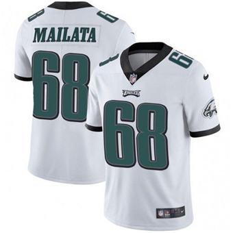 Men's Philadelphia Eagles #68 Jordan Mailata White Vapor Untouchable Limited Stitched Football Jersey
