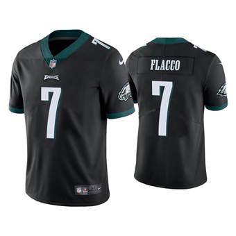 Men's Philadelphia Eagles #7 Joe Flacco Black Vapor Untouchable Limited Stitched Football Jersey
