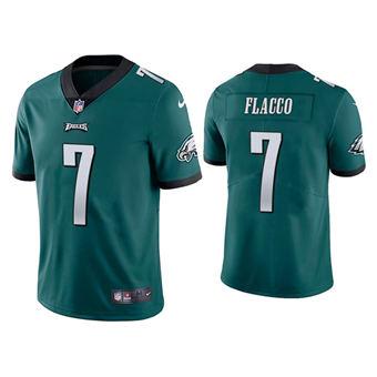 Men's Philadelphia Eagles #7 Joe Flacco Green Vapor Untouchable Limited Stitched Football Jersey