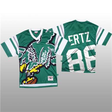 Men's Philadelphia Eagles #86 Zach Ertz Green Mitchell & Nell Big Face Fashion Limited Football Jersey