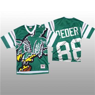 Men's Philadelphia Eagles #88 Dallas Goedert Green Mitchell & Nell Big Face Fashion Limited Football Jersey