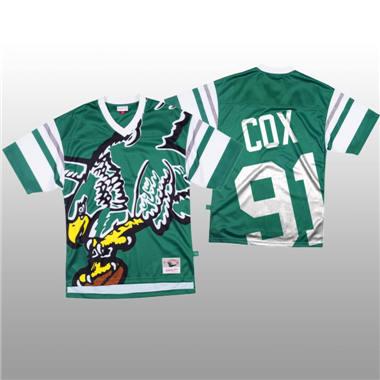 Men's Philadelphia Eagles #91 Fletcher Cox Green Mitchell & Nell Big Face Fashion Limited Football Jersey