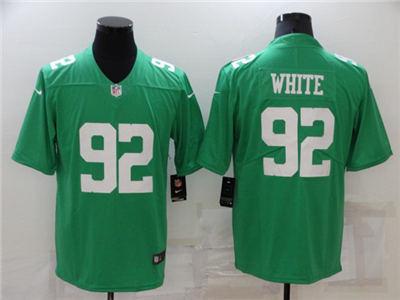 Men's Philadelphia Eagles #92 Reggie White Green Throwback Vapor Untouchable Limited Stitched Football Jersey