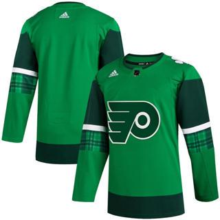 Men's Philadelphia Flyers Blank 2020 St. Patrick's Day Stitched Hockey Jersey Green