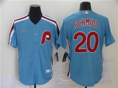 Men's Philadelphia Phillies #20 Mike Schmidt 2020 Light Blue Cooperstown Collection Baseball Player Jersey