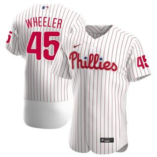 Men's Philadelphia Phillies #45 Zack Wheeler 2020 White Alternate Authentic Player Baseball Jersey