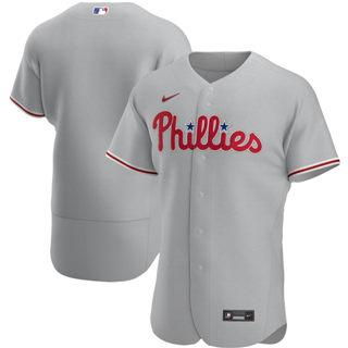 Men's Philadelphia Phillies 2020 Gray Road Authentic Official Team Baseball Jersey