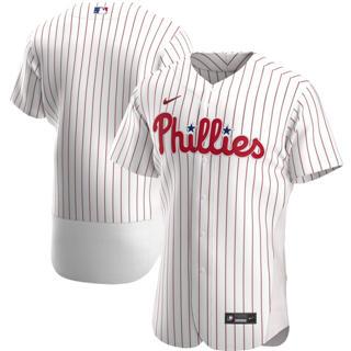 Men's Philadelphia Phillies 2020 White Home Authentic Official Team Baseball Jersey