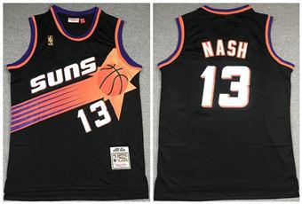 Men's Phoenix Suns #13 Steve Nash Black 1996-1997 Throwback Stitched Basketball Jersey