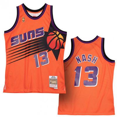 Men's Phoenix Suns #13 Steve Nash Orange 1996-97 Throwback Stitched Basketball Jersey