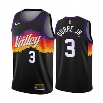 Men's Phoenix Suns #3 Kelly Oubre Jr. Black City Edition New Uniform 2020-21 Stitched Basketball Jersey