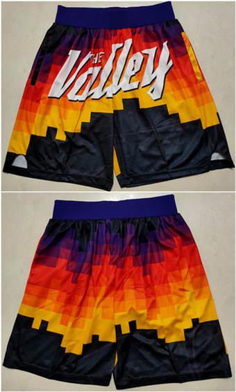 Men's Phoenix Suns Black Basketball Shorts(Run Small)