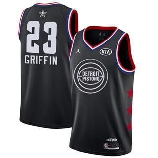 Men's Pistons #23 Blake Griffin Black Basketball Jordan Swingman 2019 All-Star Game Jersey