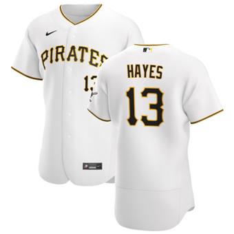 Men's Pittsburgh Pirates #13 Ke'Bryan Hayes White Home 2020 Authentic Player Baseball Jersey