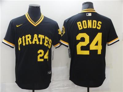 Men's Pittsburgh Pirates #24 Barry Bonds Black Flexbase Stitched Baseball Jersey