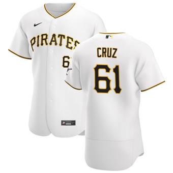 Men's Pittsburgh Pirates #61 Oneil Cruz White Home 2020 Authentic Player Baseball Jersey