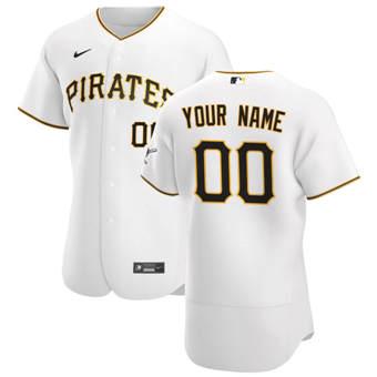 Men's Pittsburgh Pirates Custom White Home 2020 Authentic Player Baseball Jersey