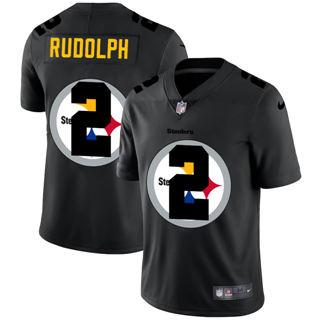 Men's Pittsburgh Steelers #2 Mason Rudolph Team Logo Dual Overlap Limited Football Jersey Black