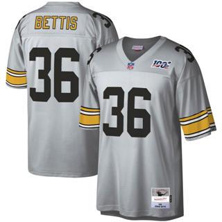 Men's Pittsburgh Steelers #36 Jerome Bettis Mitchell & Ness Football 100th Season Retired Player Platinum Jersey