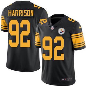 Men's Pittsburgh Steelers #92 James Harrison Black Vapor Untouchable Limited Stitched Jersey